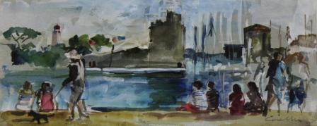 Jane CORSELLIS - Sunday Strollers, La Rochelle, France