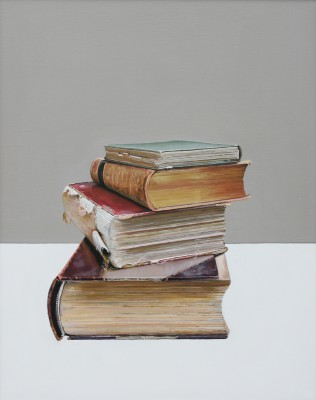 'Pile of Books' painting