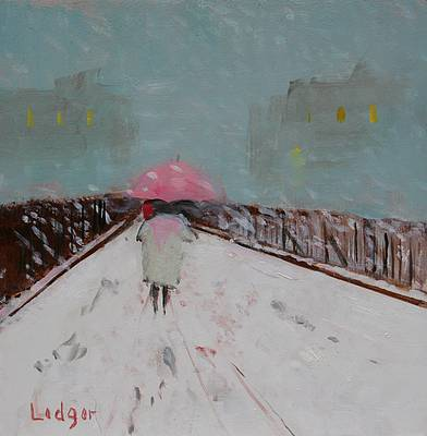 British Artist Janet LEDGER - Snow Highbury Fields