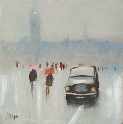 Limited Edition Prints Artist Janet Ledger - Brolly Day