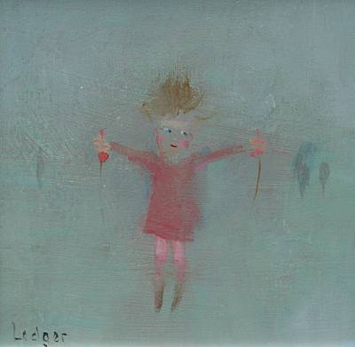British Artist Janet LEDGER - Girl with Skipping Rope