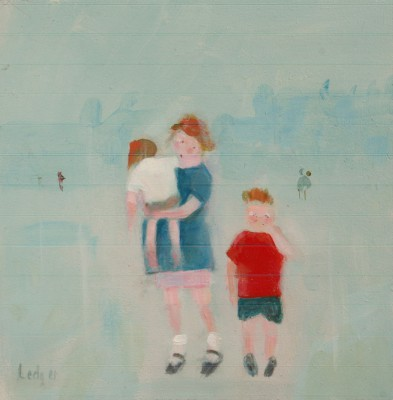 British Artist Janet LEDGER - Children at Byker, Newcastle