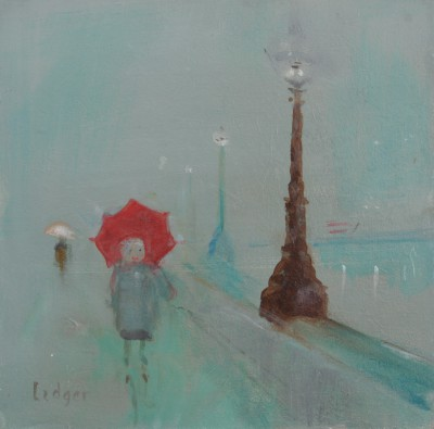British Artist Janet LEDGER - Embankment towards Westminster