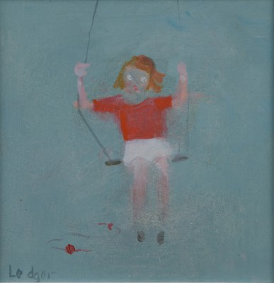 British Artist Janet LEDGER - At the Swings