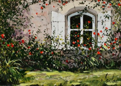 Jeremy BARLOW - Window with Roses, Cahors
