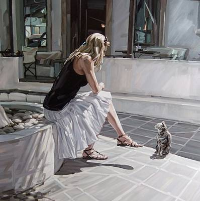Jim FARRANT - The Cat in Lindos