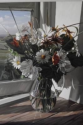 Jim FARRANT - Cosmos and Daisies