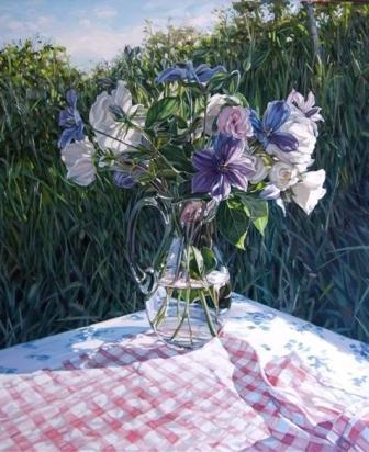 British Artist Jim Farrant - Summer Flowers