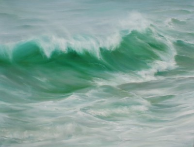 British Artist Jo BEMIS - Emerald Green