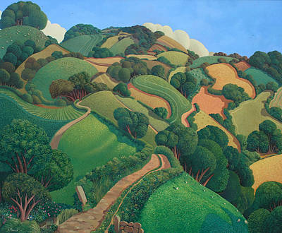 Lane from the Garden painting by artist Jo MARCH
