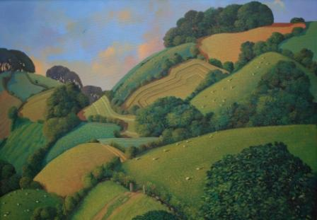 British Artist Jo MARCH - View to Restellick