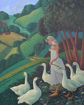 British Artist Jo MARCH - Goose Girl
