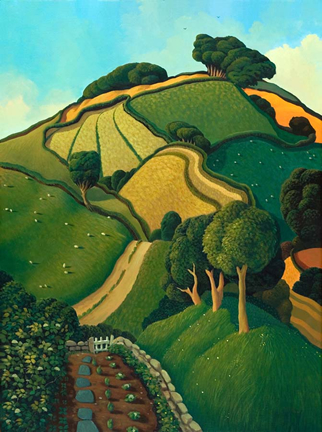 Limited Edition Prints Artist Jo March - View From The Garden