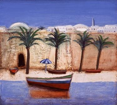 Limited Edition Prints Artist Jock MacInnes - The Beach Hammamet