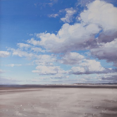 John BELL, contemporary artist - White shell sand on North Shore, Troon