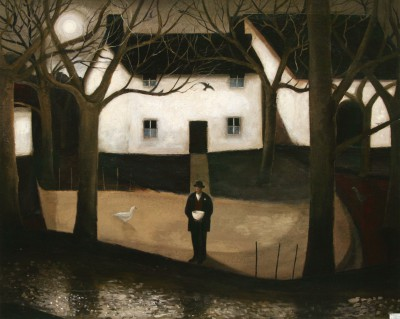 British Artist John CAPLE - Twilight Orchard, Somerset