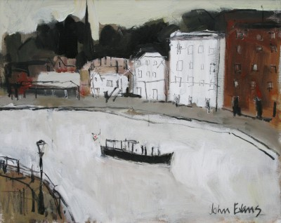 Quayside Exeter painting by artist John EVANS
