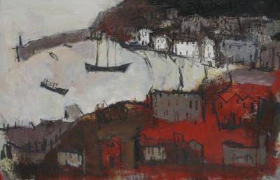 British Artist John EVANS - Harbour Retreat, Mevagissey