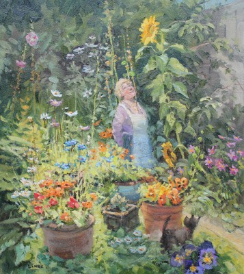 British Artist John LINES - Sunflower Surprise