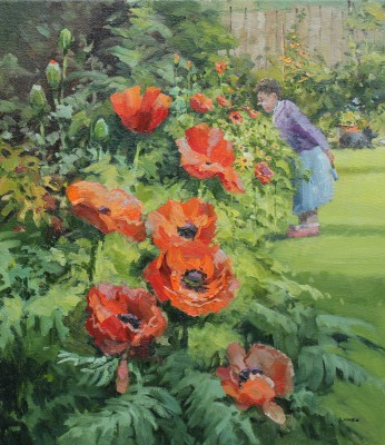 British Artist John LINES - Poppy Time