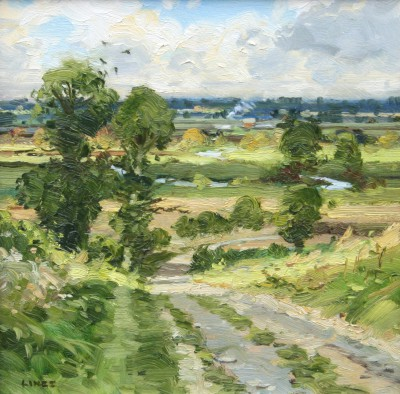 British Artist John LINES - Down the Vale