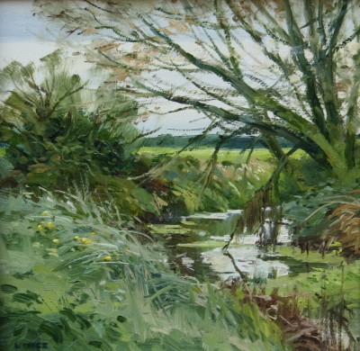 Quiet Leam painting by artist John LINES