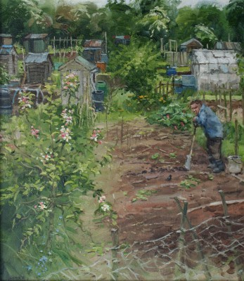 British Artist John LINES - Allotment Friends