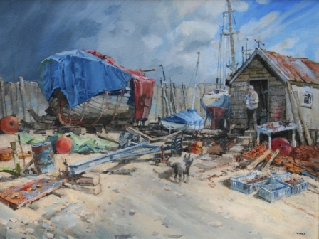 British Artist John LINES - The Old Sea Dog