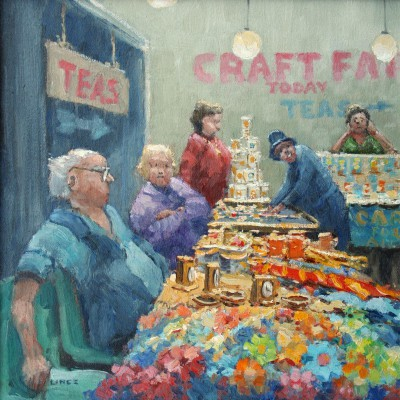 British Artist John LINES - Craft Show Customer