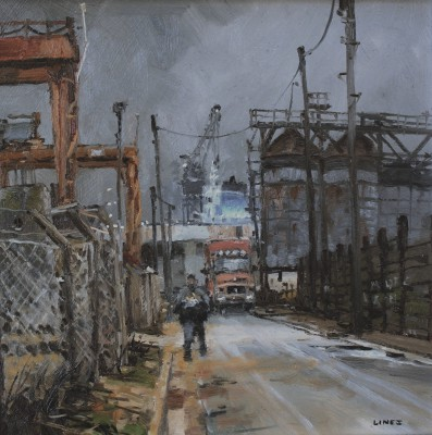 British Artist John LINES - Dock Road Chips
