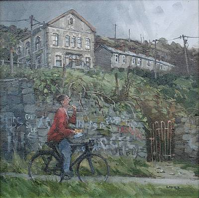 British Artist John LINES - Fast Food, Rhondda Valley
