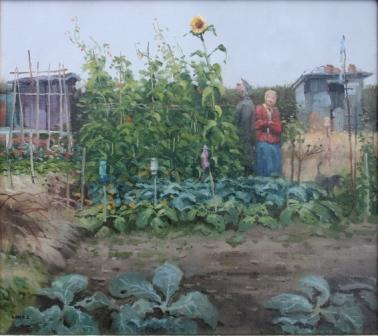 British Artist John Lines - Runner Bean Intruder