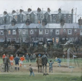 British Artist John Lines - Saturday Afternoon Penalty