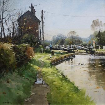 British Artist John Lines - Top Lock Morning