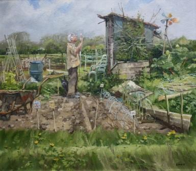 British Artist John Lines - Seed Packet Trouble