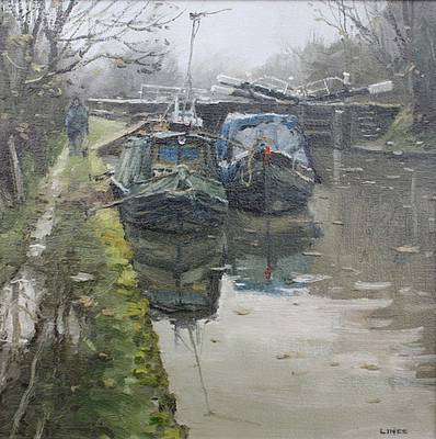 British Artist John LINES - Winter Lay Up