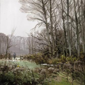 British Artist John Lines - Woodside Walker