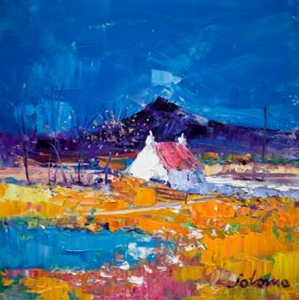 British Artist John Lowrie  Morrison (Jolomo) - Autumn Light Pennyghael Isle of Mull