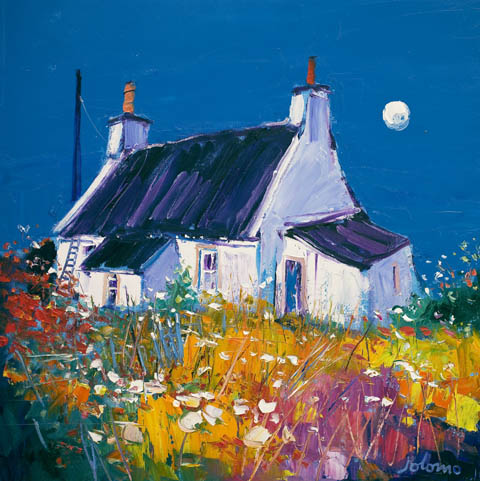 John Lowrie Morrison (Jolomo) - Croft and Moon, Isle of Gigha