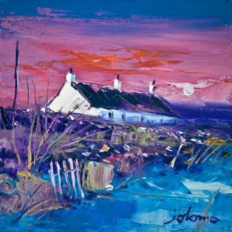 Limited Edition Prints Artist John Lowrie Morrison (Jolomo) - Evening Gloaming Easdale Island