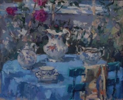British Artist John MARTIN - Tea and Roses