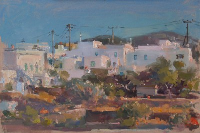 British Artist John MARTIN - Evening Light, Sifnos