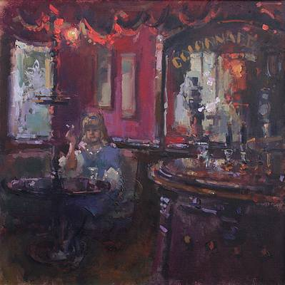 British Artist John MARTIN - Late Again, The Collanade Bar Brighton