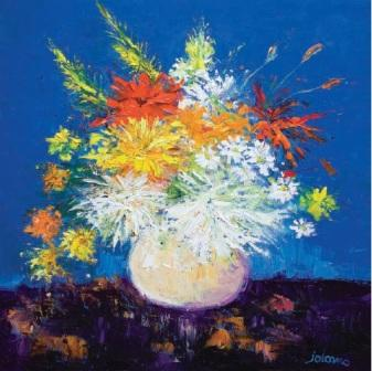 Limited Edition Prints Artist John Lowrie Morrison (Jolomo) - Big Blooms White Vase