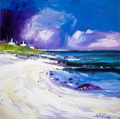 Limited Edition Prints Artist John Lowrie Morrison (Jolomo) - Rain Squall, Balemartine, Isle of Tiree