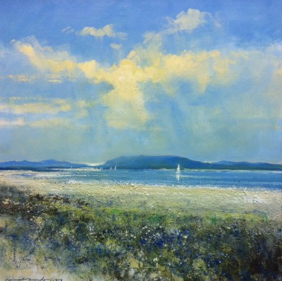 British Artist Jonathan TRIM - Summer sailing The Western Isles