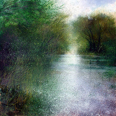 British Artist Jonathan TRIM - A Summers Day on the River Stour