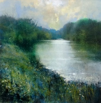 British Artist Jonathan TRIM - Upper Thames late afternoon