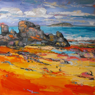 'Low Tide, North Berwick' painting