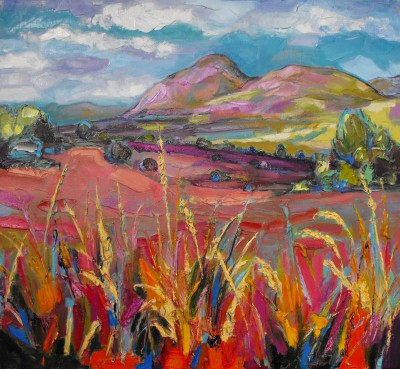 'Pink Autumn Grasses, Dumgoyne          ' painting